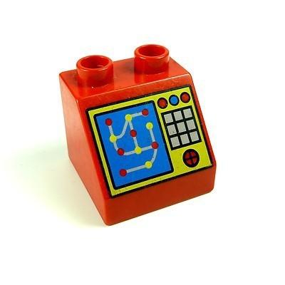 000 Konsole Pult Kasse Monitor Puppenhaus Möbel Lego Duplo B23