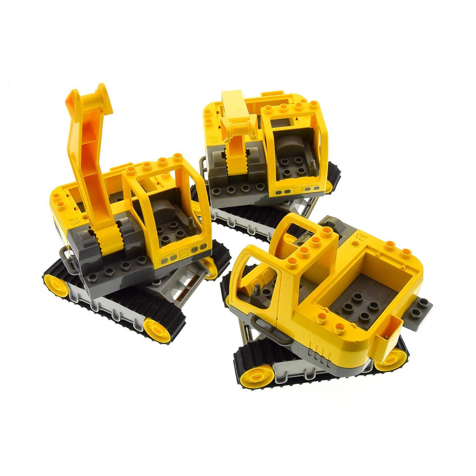 für Raupenbagger Führerhaus Fahrerkabine Baustelle aus 4986 Lego Duplo