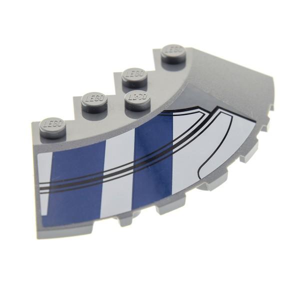 1 X Lego System Tragfläche Neu-dunkel Grau 33° 6x6 Ecke