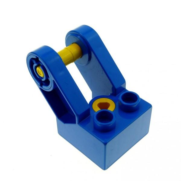 1 x Lego Duplo Toolo Stein Arm Baustein Verbindung Verbinder blau 2 x 2 2x2 Winkelform 6284c01