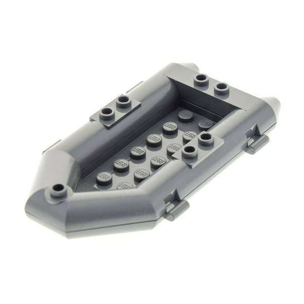 1 x Lego System Boot neu-dunkel grau Schlauchboot klein Ruderboot City Feuerwehr Truck 7239 30086