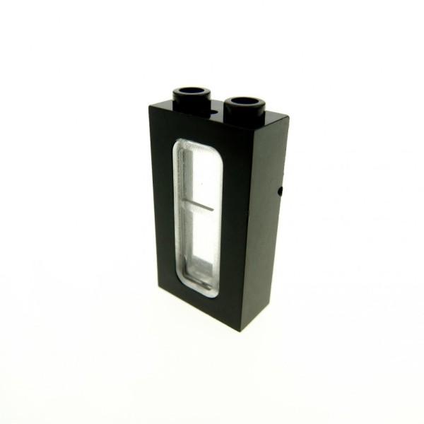 1 x Lego System Fenster schwarz transparent weiss 1x2x3 Eisenbahn Zug Train Rahmen 6016824 4035 4036