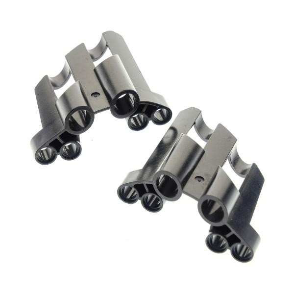 2 x Lego Technic Panele Paar schwarz Verkleidung 1 / 2 Seite A / B gross kurz große Löcher Fairing # 1 / Fairing # 2 Side A B 22749 32190 22750 32191