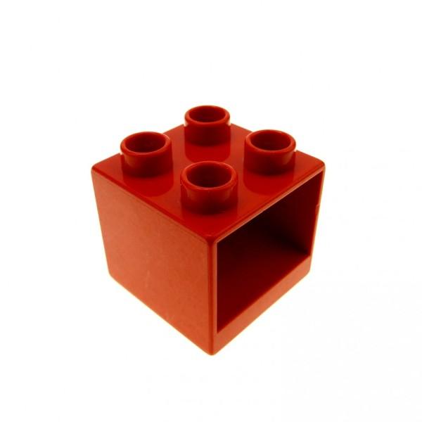 1 x Lego Duplo Möbel Schrank rot 2x2x1.5 Kommode Schlafzimmer Küche Bad Puppenhaus 4890
