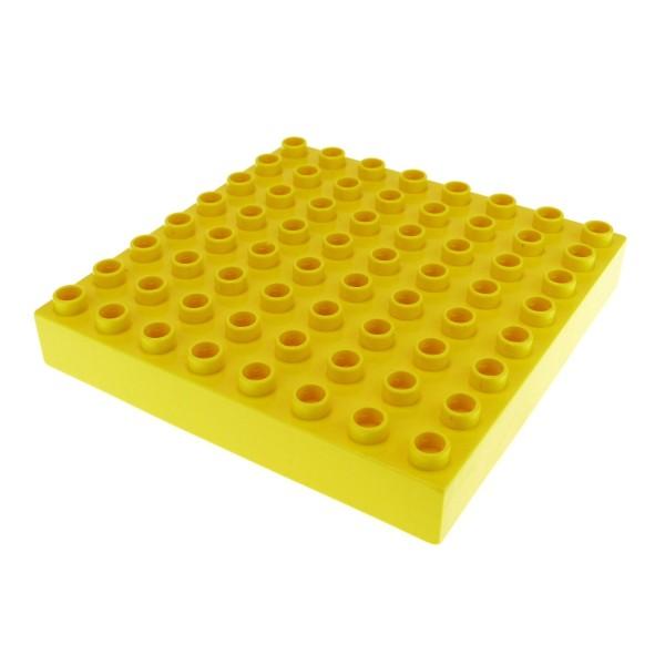 1 x Lego Duplo Bau Basic Platte gelb dick 8x8 Noppen Puppenhaus für Set 9067 31113