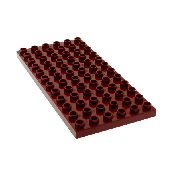1 x Lego Duplo Bau Basic Platte dunkel rot 12 x 6 Noppen 6x12 Grundplatte Set Bauernhof 4686 4196 18921