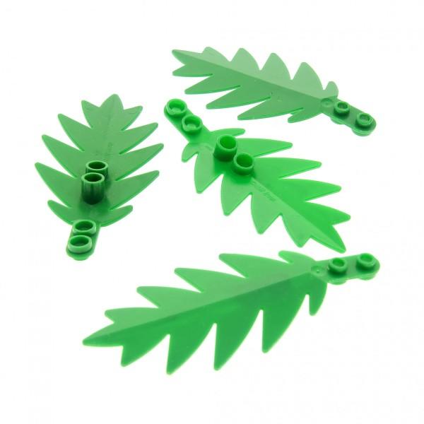 4 x Lego System Pflanze grün 8 x 3 Palme Wedel klein Blatt Strauch Busch Blätter Insel Piraten 6278 6282 6338 6148