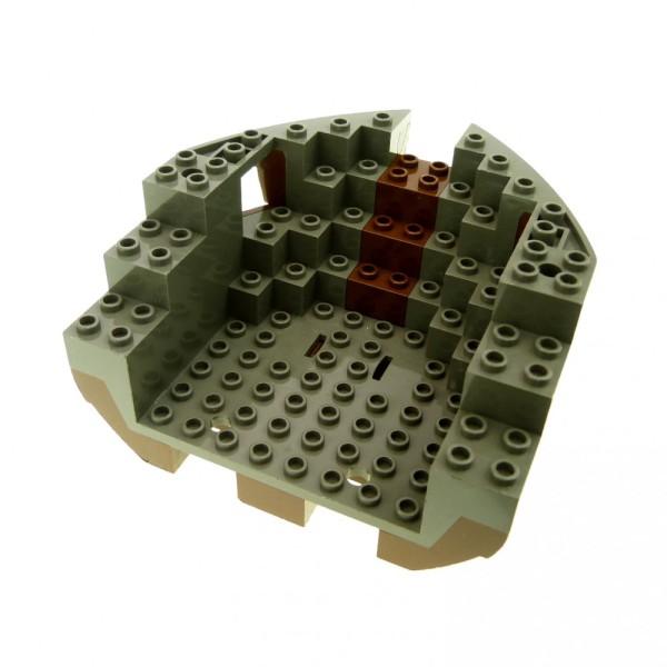 1 x Lego System Boot Bug braun alt-dunkel grau 12x12x5 Piraten Schiff Rumpf Reling 6268 6271 6051c05