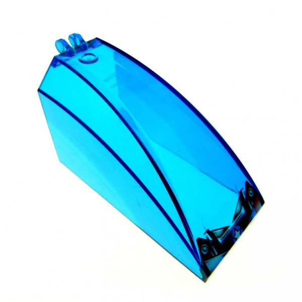 1 x Lego System Windschutzscheibe transparent dunkel blau 8x4x4 windscreen Cockpit Kuppel Fenster Aufkleber 4 Juniors Jack Stone Police 30649