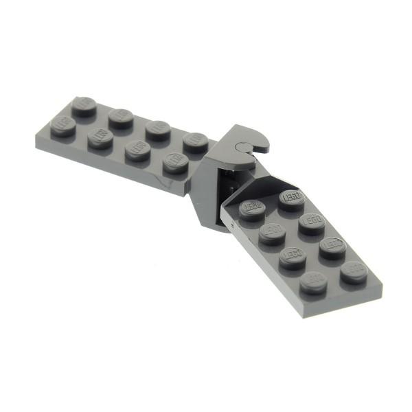 1 x Lego System Scharnier Platte neu-dunkel grau 2x4 Gelenk komplett Classic Space 3640c01