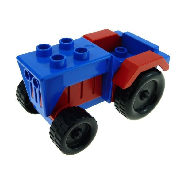 1x Lego Duplo Fahrzeug Traktor blau rot Auto Bauernhof Set 2629 bb0966c01