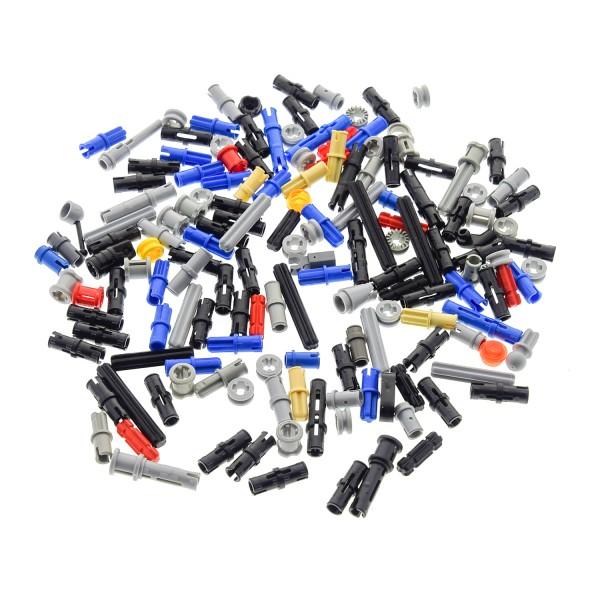100 Lego Technic Klein Teile ca. 30 g z.B. Pin Stopper Stecker Stange kurz Achse Zahnringe kg Technik Steine zufällig gemischt