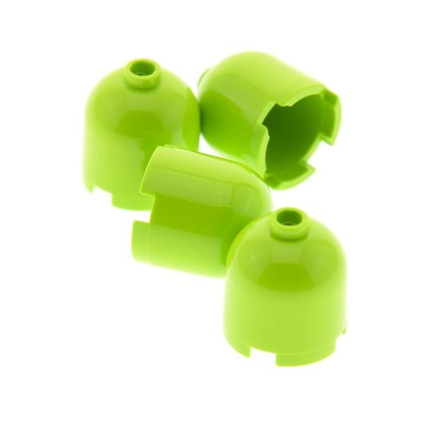 4 x Lego System Kuppel lime hell grün 2x2x1 2/3 rund Stein Kappe für Gasflasche 4559833 30151a