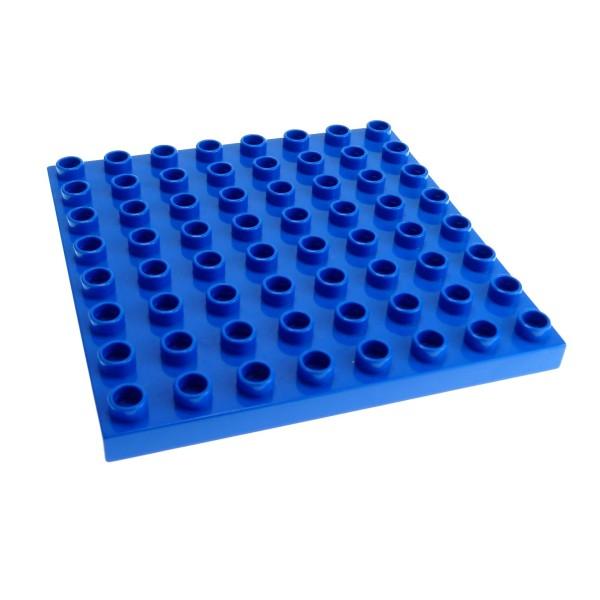 1 x Lego Duplo Bau Basic Platte blau 8x8 Noppen Wasser Zoo Puppenhaus 6158 4988 4961 9229 4246956 51262