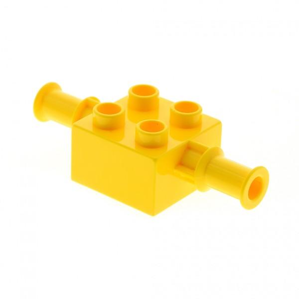 1 x Lego Duplo Bau Fahrzeug Bagger Schaufel Arm Halter 2x2 gelb für Baggi Bob der Baumeister Figur Scoop Set 9119 4988 5653 3297 4153496 40637