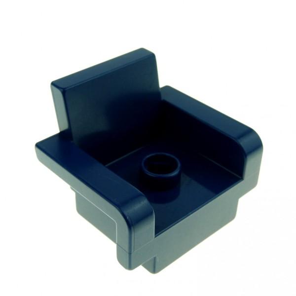 1x Lego Duplo Möbel Stuhl 2x3x2 dunkel blau Arm Lehne Sitz Sessel 4264805 4885