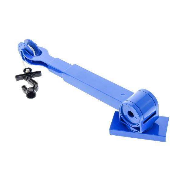 1 x Lego Duplo Kran Ausleger blau Rolle blau mit Haken schwarz Seilwinde Kranarm Auto Set Bob der Baumeister Heppo Lofty 3297 41169c04 41168c02