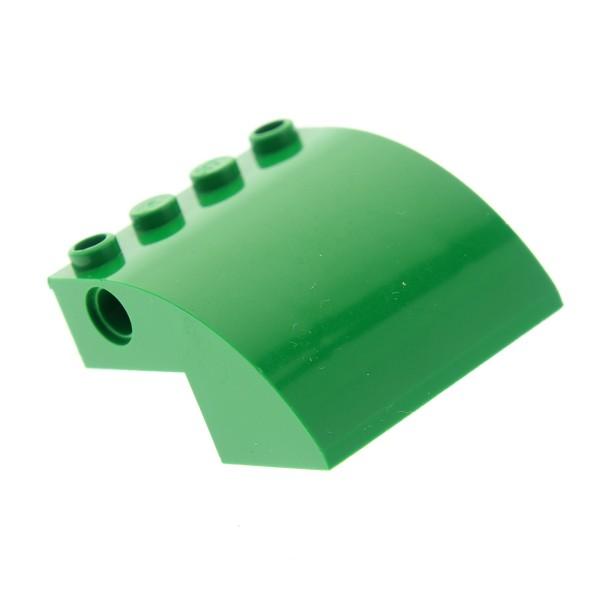 1 x Lego System Flugzeug Dach Rumpf grün 4x4x2 gebogen mit Löcher 70805 60022 7734 61487
