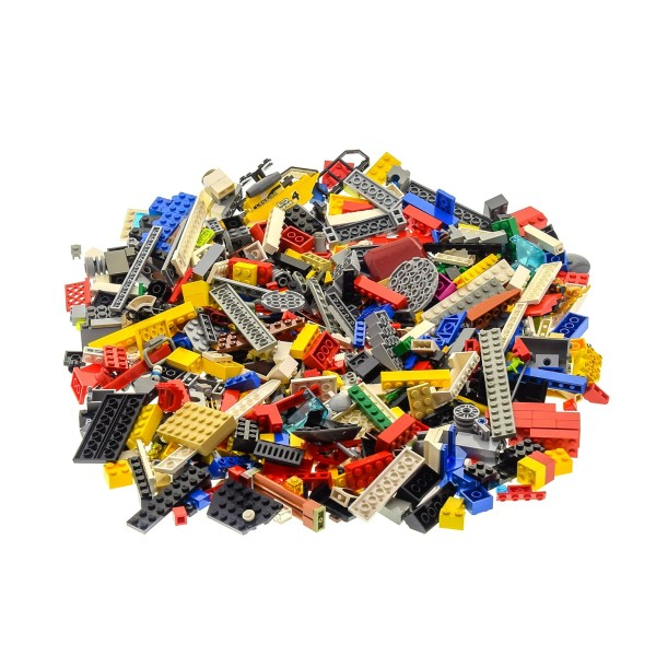 600 Teile Lego System Steine Form Farbe zufällig bunt gemischt Kiloware 0,80 kg z.B. Räder Platten Fenster