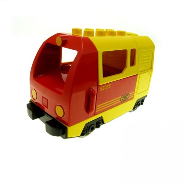 1 x Lego Duplo E-Lok gelb rot Eisenbahn Lokomotive Geräusch Passagier Güter Zug komplett geprüft 51553px1 51546 51547pb06 5135cx1