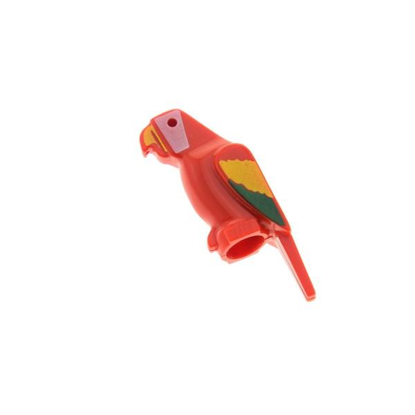 1 x Lego System Tier Papagei rot bunte Flügel Vogel Ara Bird Zoo Jungle Piraten 2546p01
