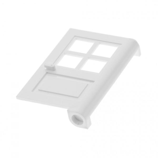 1 x Lego System Tür Blatt weiss 1x4x5 Haus mit Fenster Kreuz (Noppe rund und zu) 3861