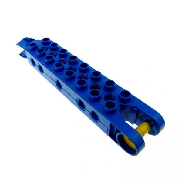 1 x Lego Duplo Toolo Stein blau 2 x 8 2x8 Arm Baustein mit 10 Gewindebuchsen Verbindung Fahrgestell Schwenk Halterung bar102