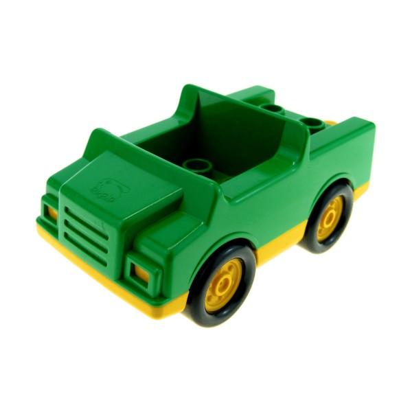 1 x Lego Duplo Fahrzeug Auto grün gelb PKW für Müll Recycling Wagen 4 Noppen im Sitz klein für Set 9177 2218c01