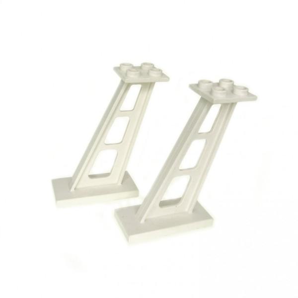2x Lego Stütze weiß 2x4x5 Säule Pfeiler Träger Leitwerk Set 8161 4142125 4476b