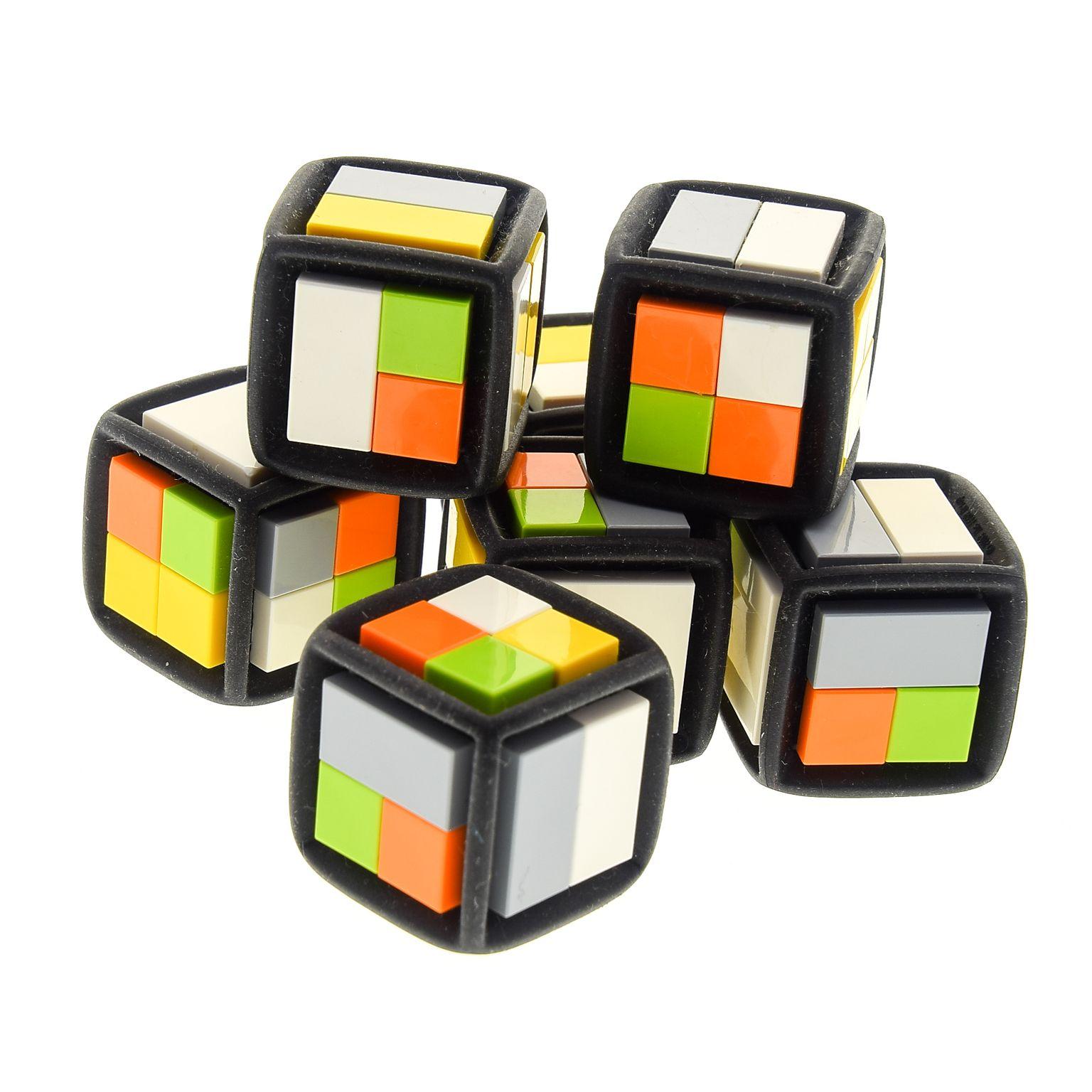 Lego 5 x Runde Fliesen Kacheln 2x2 in Schwarz