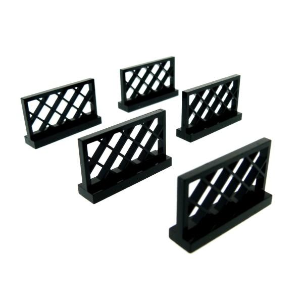 LEGO 10 x Zaun Zäune Gitter Gatter schwarz 1x4x2 black fence 3185