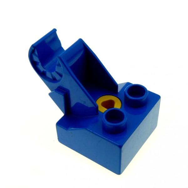 1 x Lego Duplo Toolo Stein blau 2x2 Arm Baustein Verbindung Verbinder Halterung Winkelform 6285c01