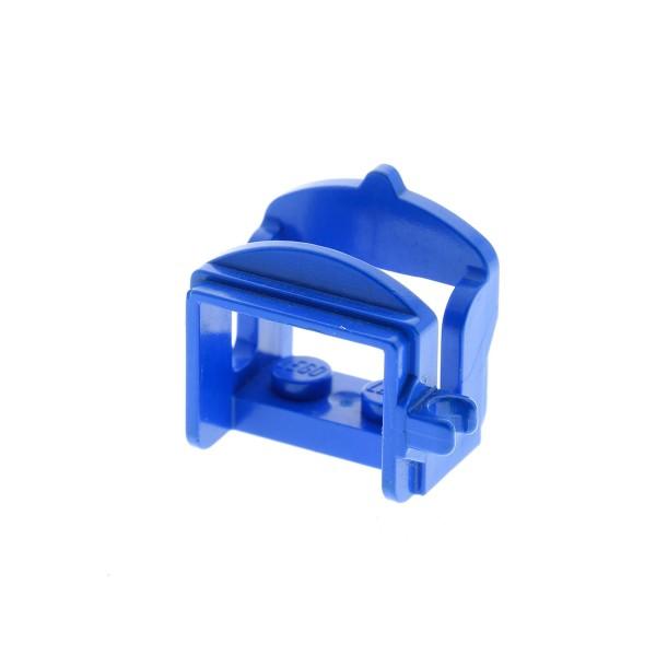 1 x Lego System Tier Pferd Sattel blau mit 1 Clip Pferdesattel Indianer Western Reiter Hof Castle Ritter 4491a