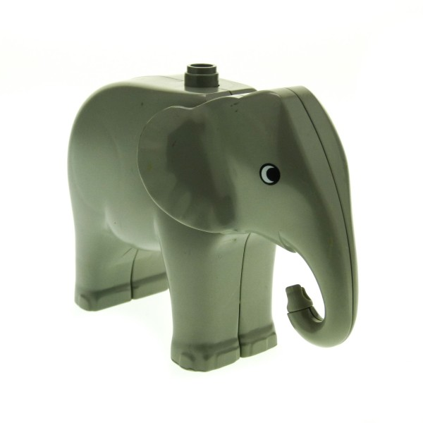 1 x Lego Duplo Tier Elefant groß alt-hell grau Kopf beweglich Zoo Tier Zirkus 2177c01pb01