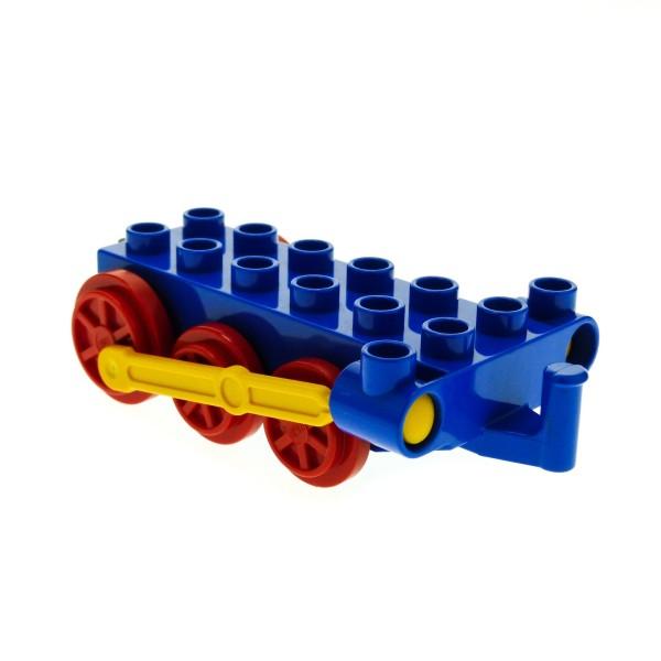 1 x Lego Duplo Schiebe Lok Unterbau blau rot gelb Eisenbahn Chassis Zug ( ohne Steg ) 4580c01