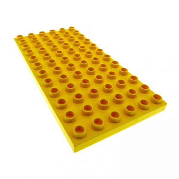 1 x Lego Duplo Bau Basic Grund Platte 6 x 12 gelb 6x12 für Set 9231 2818 9148 4663 4107993 4196 18921