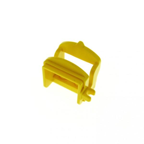 1 x Lego System Tier Pferd Sattel gelb mit 1 Clips Pferdesattel Indianer Western Reiter Hof Castle Ritter 4491a