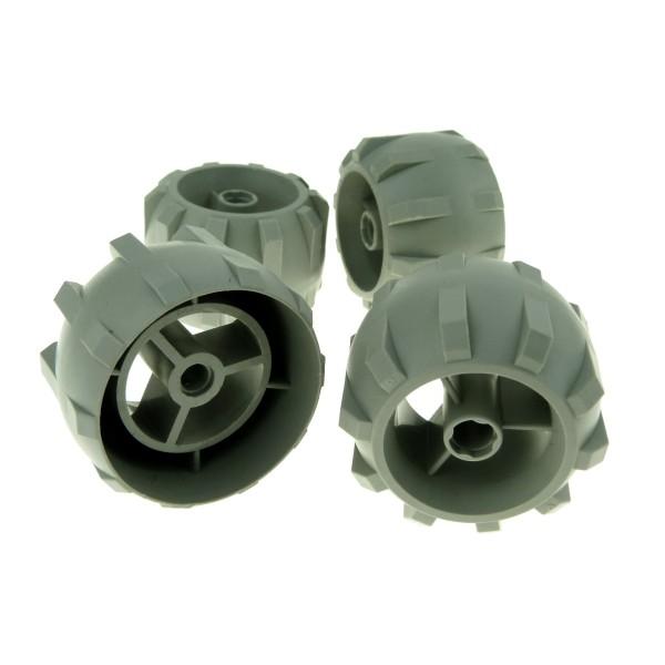4 x Lego Technic Rad alt-hell grau Räder hart Plastik Speichenrad Space Life On Mars Auto Fahrzeug für Set 7310 7312 4142996 30324