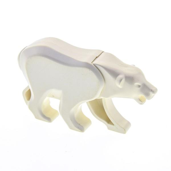 1 x Lego System Tier Eisbär creme weiss Polar Bär Zoo Arktis Nordpol Schnee Eis Tiere für Set 1177 x206c01