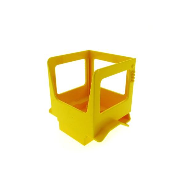 1 x Lego Duplo Bau Fahrzeug Führerhaus gelb für Baggi Bob der Baumeister Figur Scoop Kabine 40639