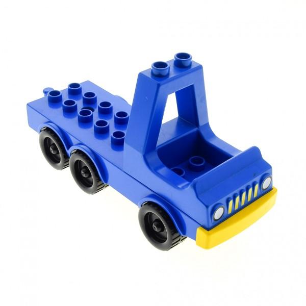 1 x Lego Duplo Fahrzeug Chassis LKW Laster Auto Lastwagen blau 2x10 Zugmaschine mit Führerhaus Aufsatz Kabine für Set 2628 2028 dup005