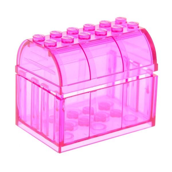 Lego Ritter Harry Potter 1 Schatztruhe //-kiste in transparent pink