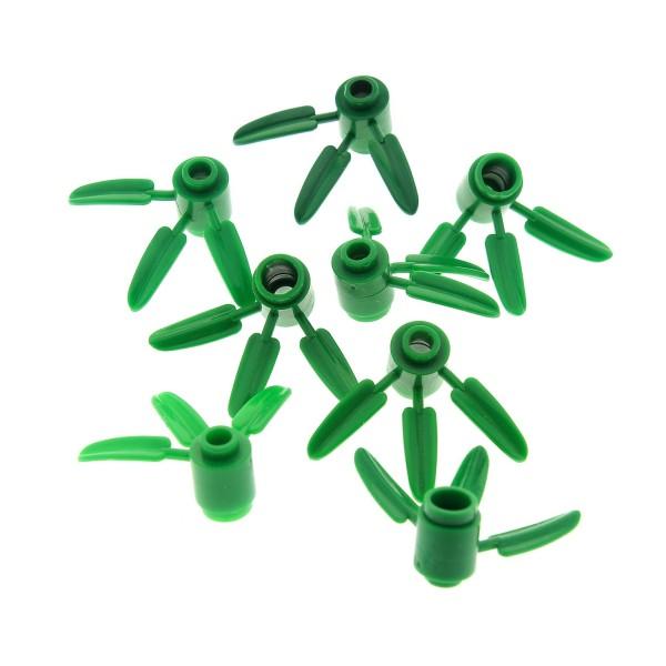 8 x Lego System Pflanze grün Bambus 1x1 3 Blatt Panda Bambusblätter Blüten Stiel Garten Wiese Gras 10236 7189 7623 70604 70620 40158 30176