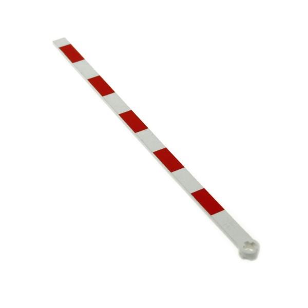 1 x Lego System Eisenbahn Schranke B-Ware abgenutzt weiss rot Typ 2 Bahnübergang Zug Gleis für Set 4539 7835 7866 4512pb01