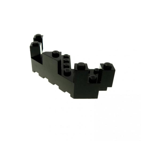 1 x Lego System Mauerteil schwarz 7x7 Ecke Burg Zinne Mauer Wand Ecke Turm Castle Set 9376 6076 1788 6281 6072