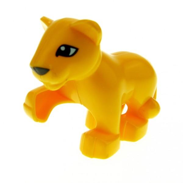 1 x Lego Duplo Tier Löwe Baby orange gelb klein für Safari Zirkus Zoo Katze 4962 6157 5634 4281470 54300cx1