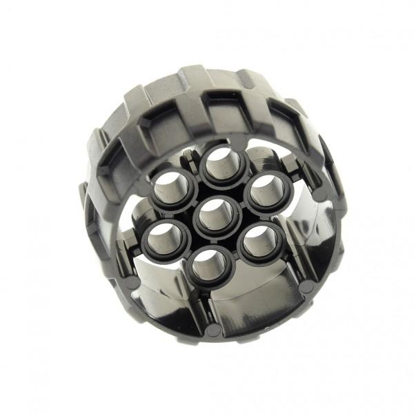 1 x Lego Technic Rad perl dunkel grau 37mm D. x 22mm hart Plastik mit 7 Pin Löchern für Set 76055 70315 70312 70319 70593 6122170 22410