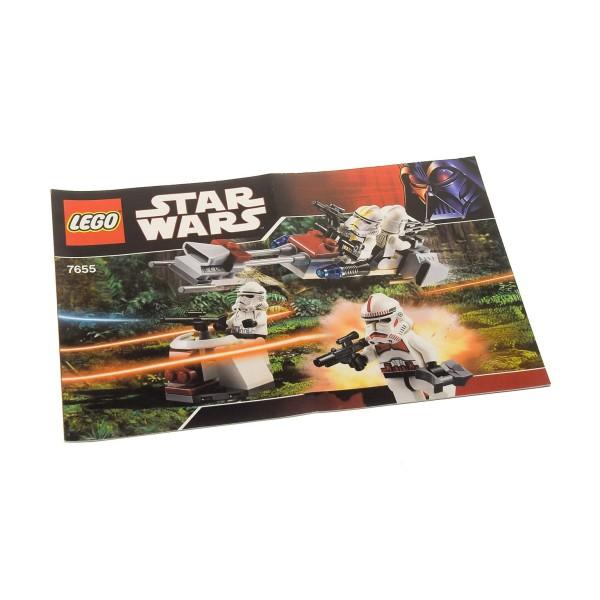 1 x Lego System Bauanleitung A5 für Star Wars Episode 3 Clone Troopers Battle Pack 7655