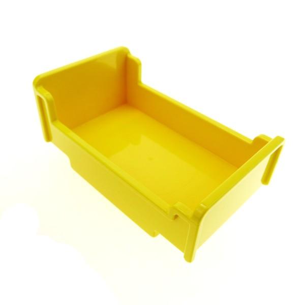 1 x Lego Duplo Möbel Bett gelb 3x5x1 2/3 Schlafzimmer Puppenhaus 4610671 76338 4895