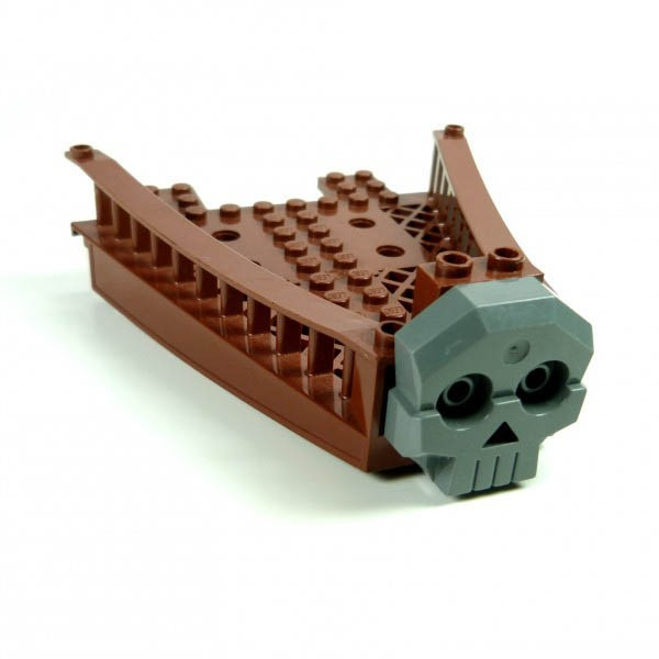 Piraten Wikinger Boot Schiff Rumpf rot braun Reling Bug groß Lego 47990 47988